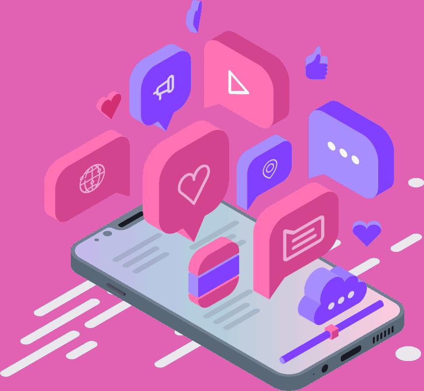 azmarketing4u-social-media-isometric